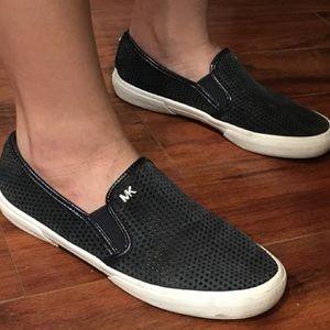 Michael Kors baby blue slip on sneakers